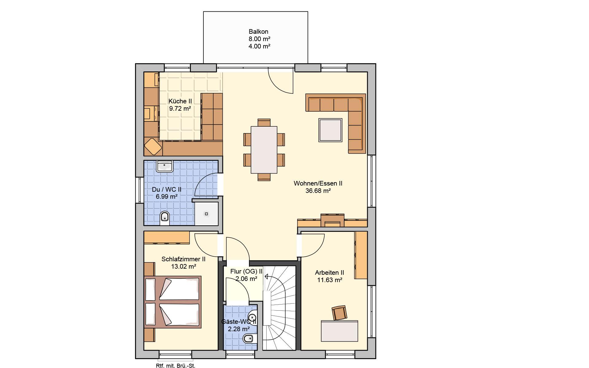 Obergeschoss Komforta von Fingerhut Haus GmbH & Co. KG