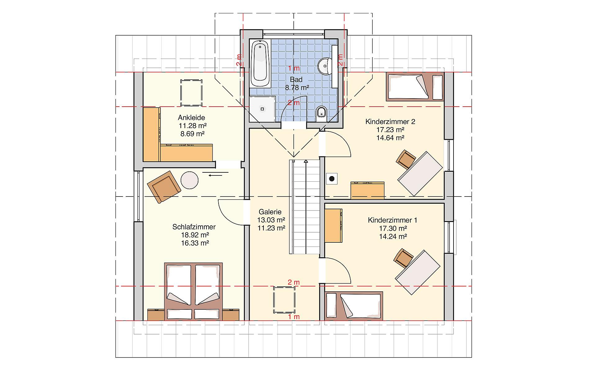 Dachgeschoss Solera von Fingerhut Haus GmbH & Co. KG