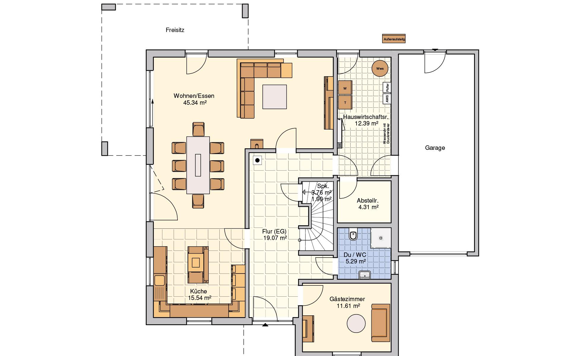 Erdgeschoss Lageto von Fingerhut Haus GmbH & Co. KG