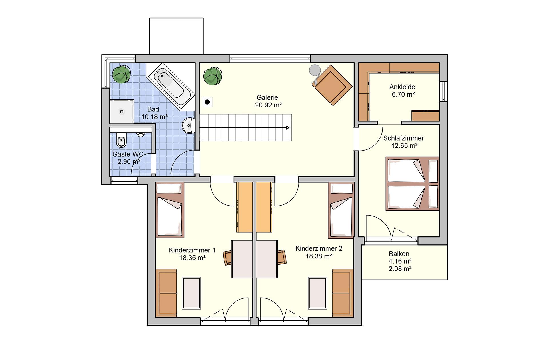 Obergeschoss Linea von Fingerhut Haus GmbH & Co. KG