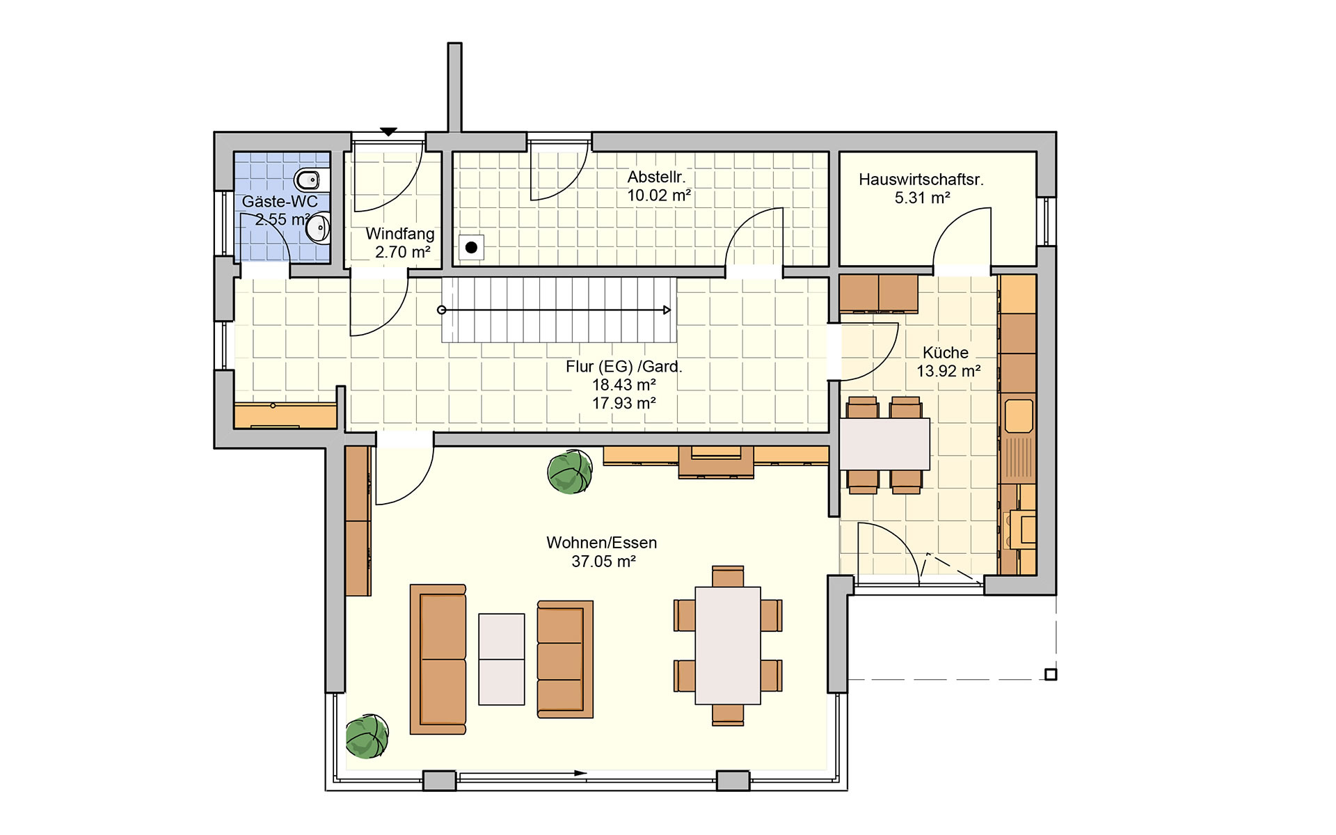 Erdgeschoss Linea von Fingerhut Haus GmbH & Co. KG