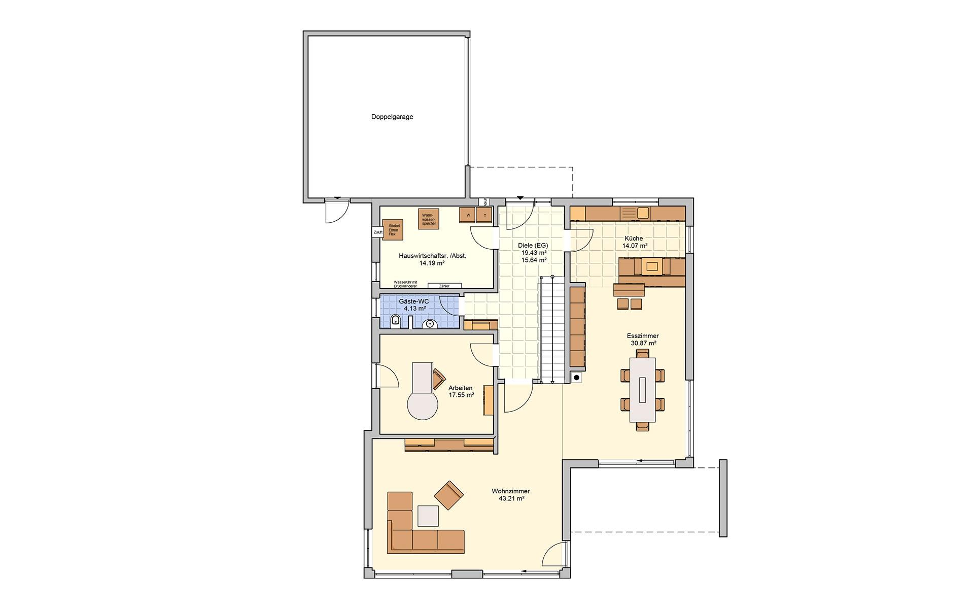 Erdgeschoss Matene von Fingerhut Haus GmbH & Co. KG