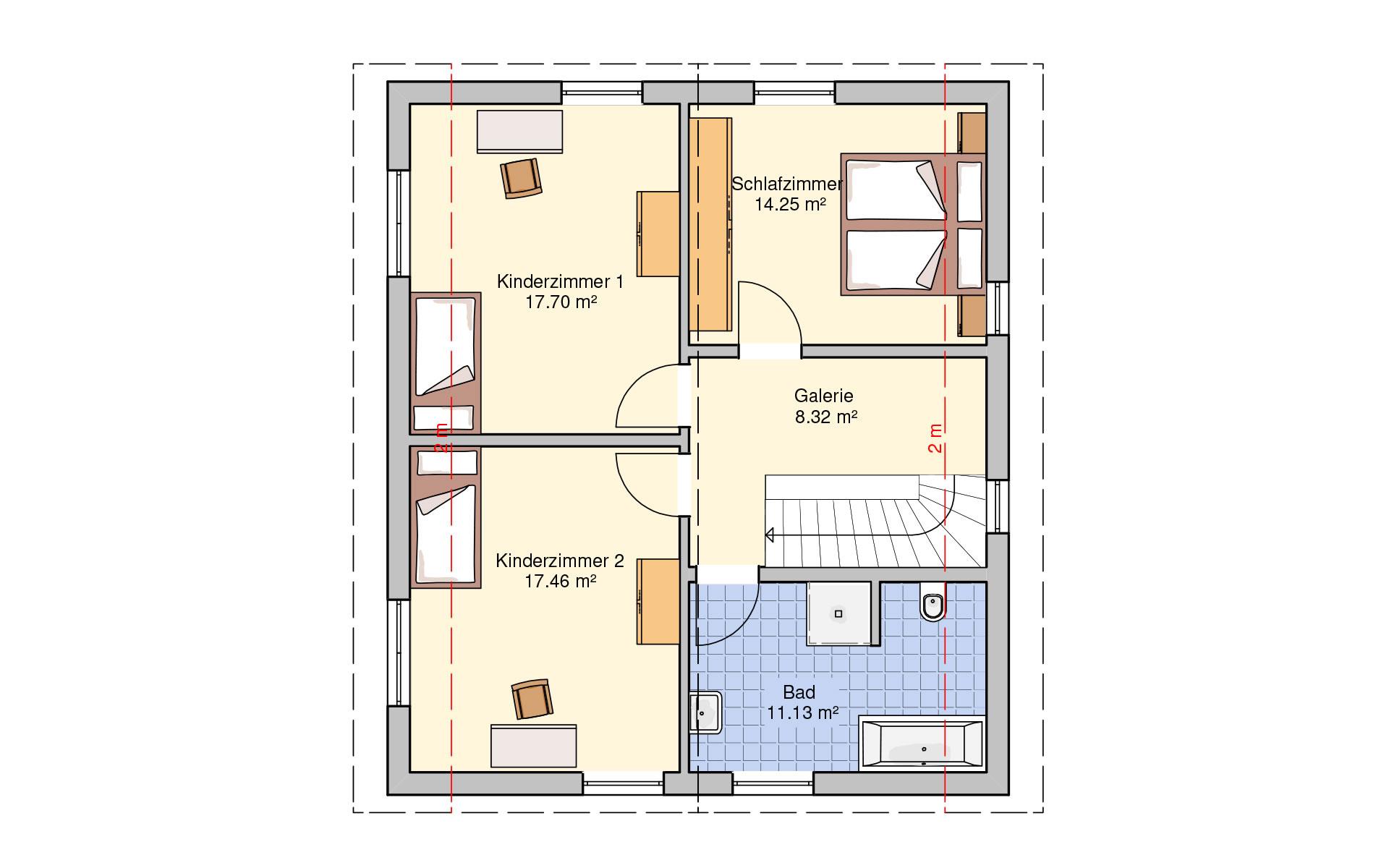 Obergeschoss Oslo von Fingerhut Haus GmbH & Co. KG