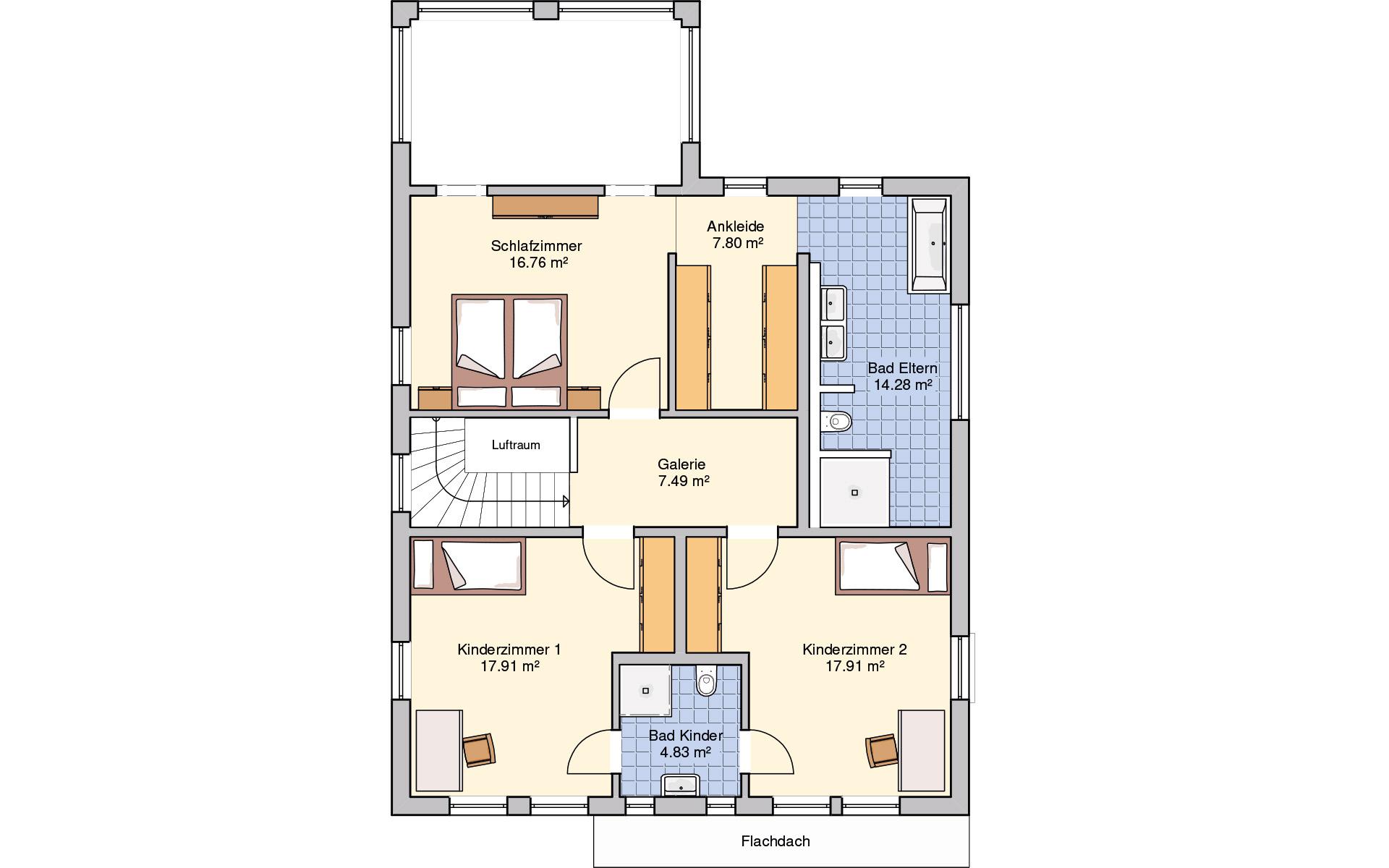 Obergeschoss Plata von Fingerhut Haus GmbH & Co. KG