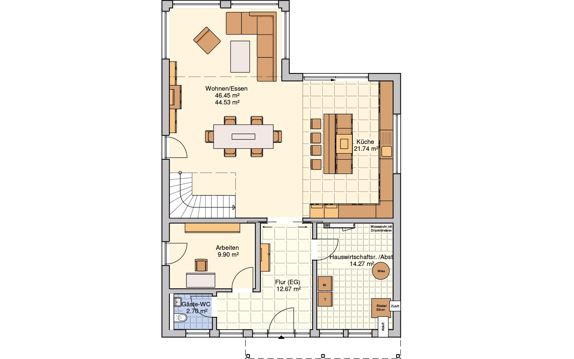 Erdgeschoss Plata von Fingerhut Haus GmbH & Co. KG