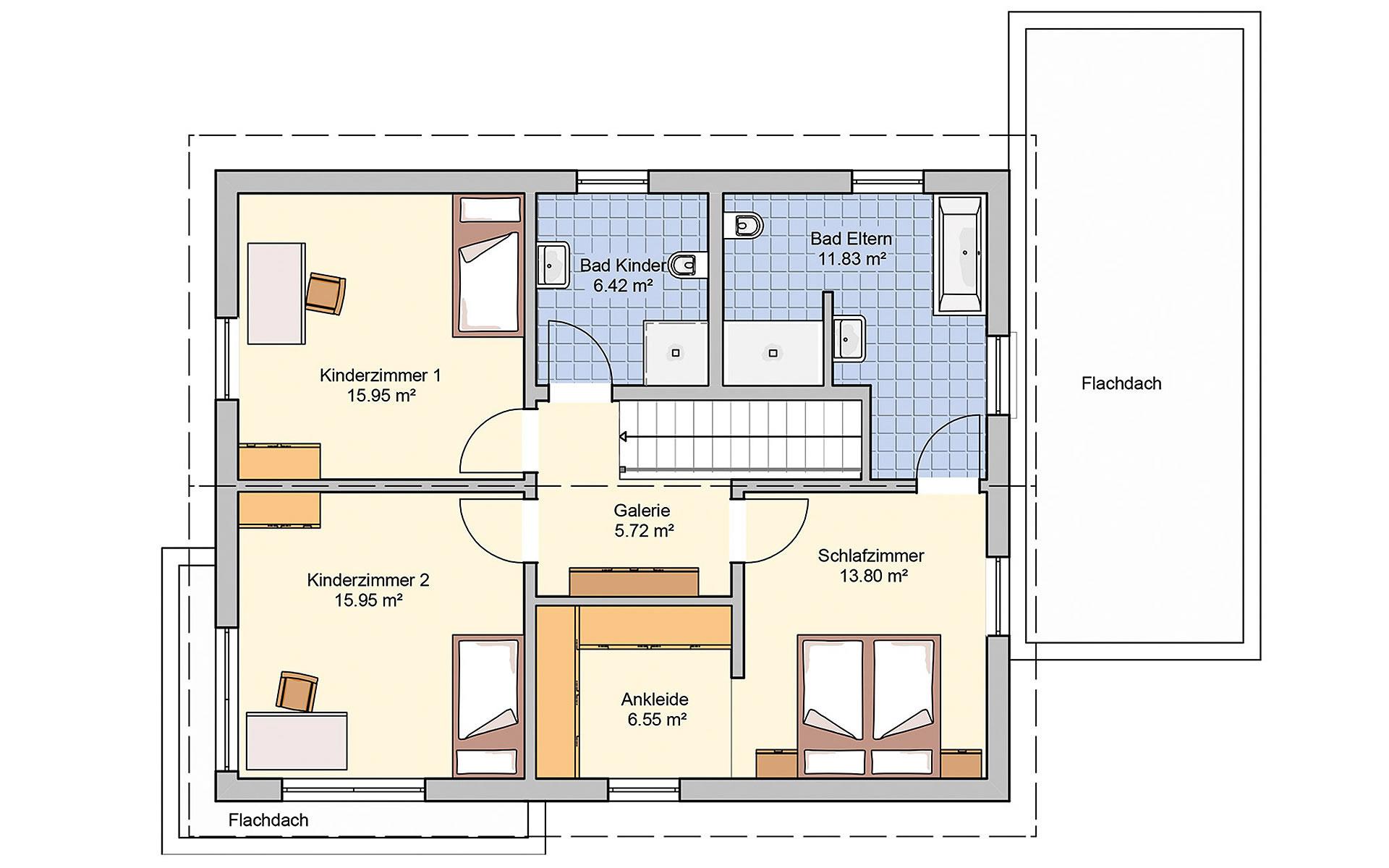 Obergeschoss Balance von Fingerhut Haus GmbH & Co. KG