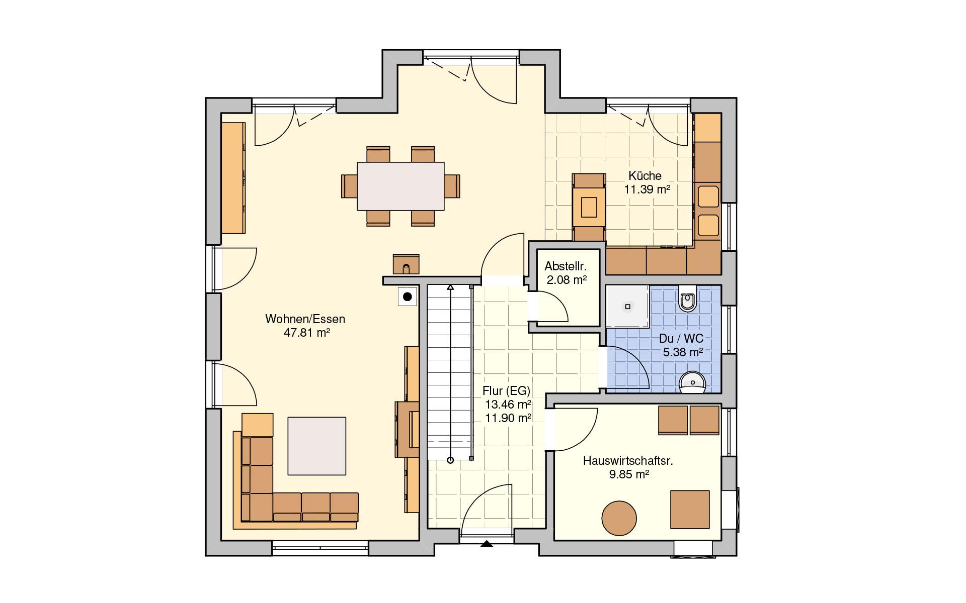 Erdgeschoss Socca von Fingerhut Haus GmbH & Co. KG