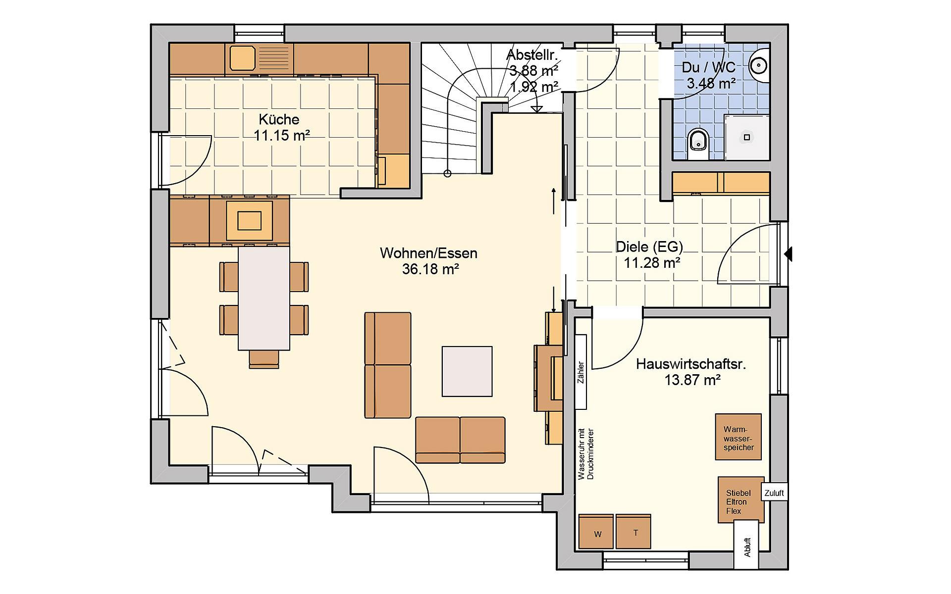 Erdgeschoss Solaris von Fingerhut Haus GmbH & Co. KG
