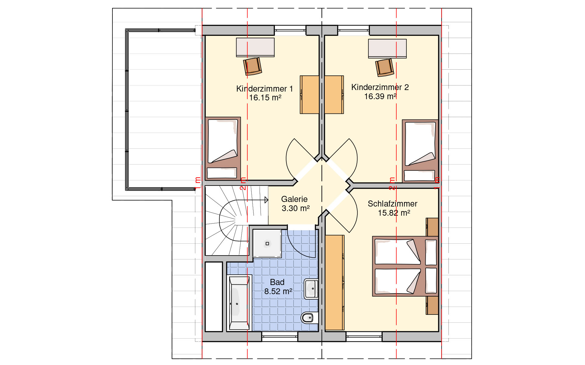 Dachgeschoss Stockholm von Fingerhut Haus GmbH & Co. KG