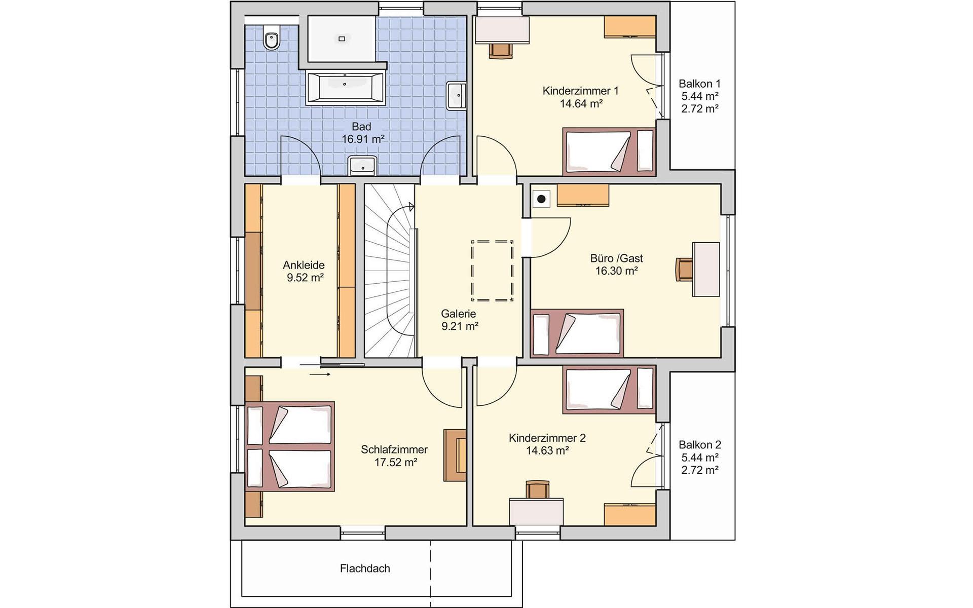 Dachgeschoss Musterhaus Stuttgart von Fingerhut Haus GmbH & Co. KG
