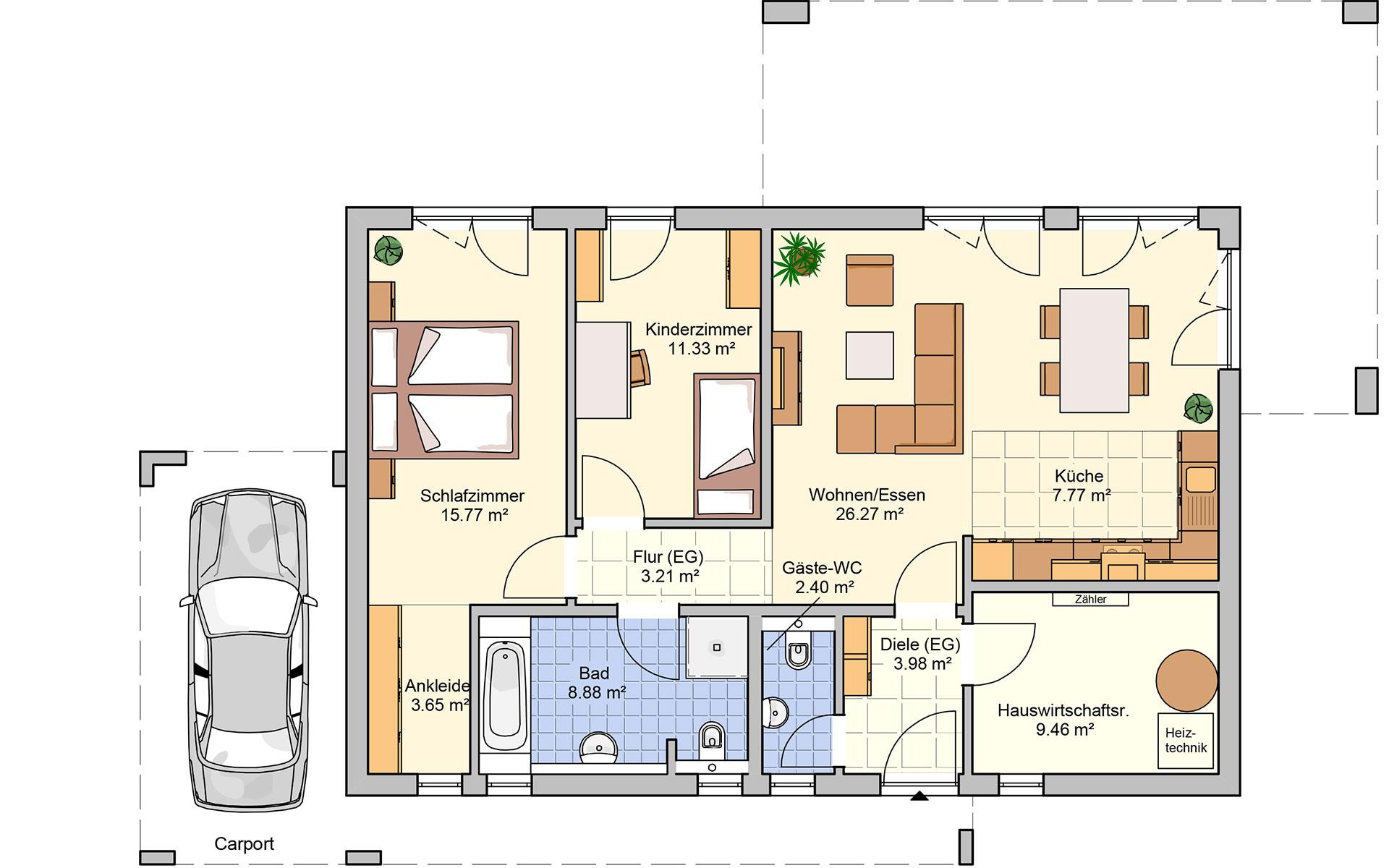 Erdgeschoss Vespero von Fingerhut Haus GmbH & Co. KG