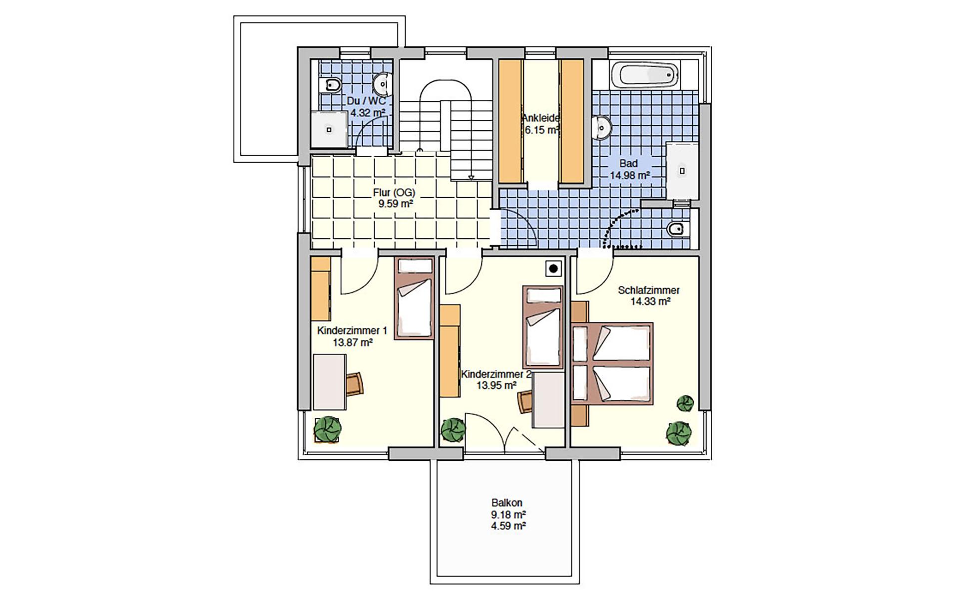 Obergeschoss Köln (Musterhaus) von Fingerhut Haus GmbH & Co. KG