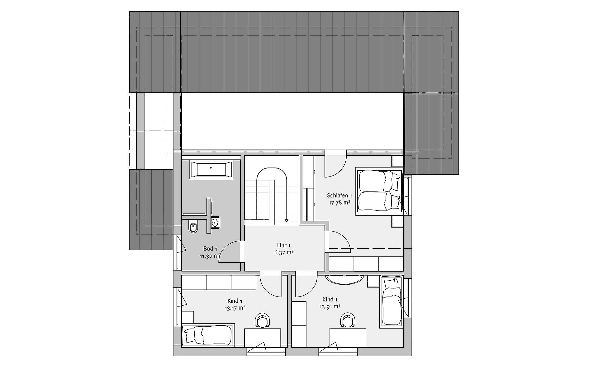 Dachgeschoss Modern 190 von FischerHaus GmbH & Co. KG