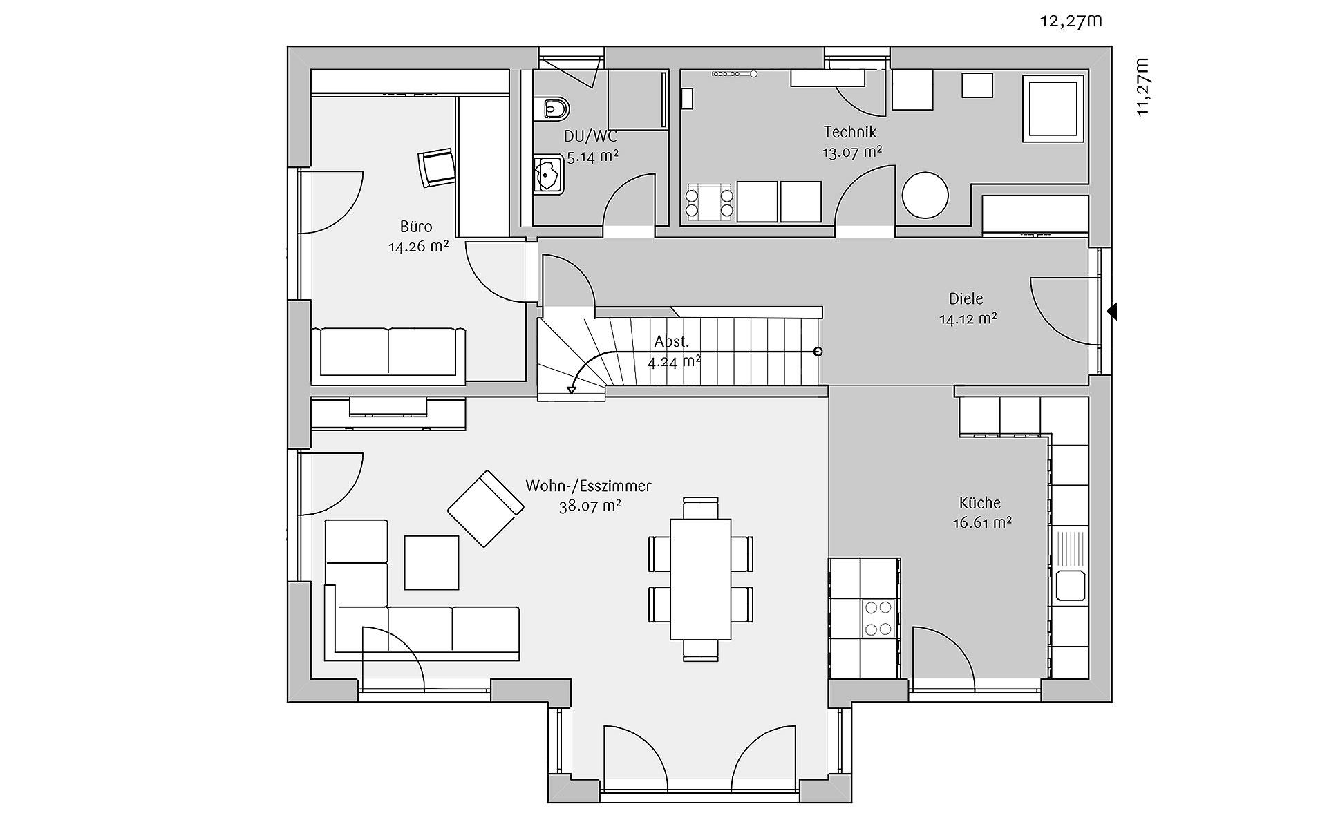 Erdgeschoss Modern 198 von FischerHaus GmbH & Co. KG