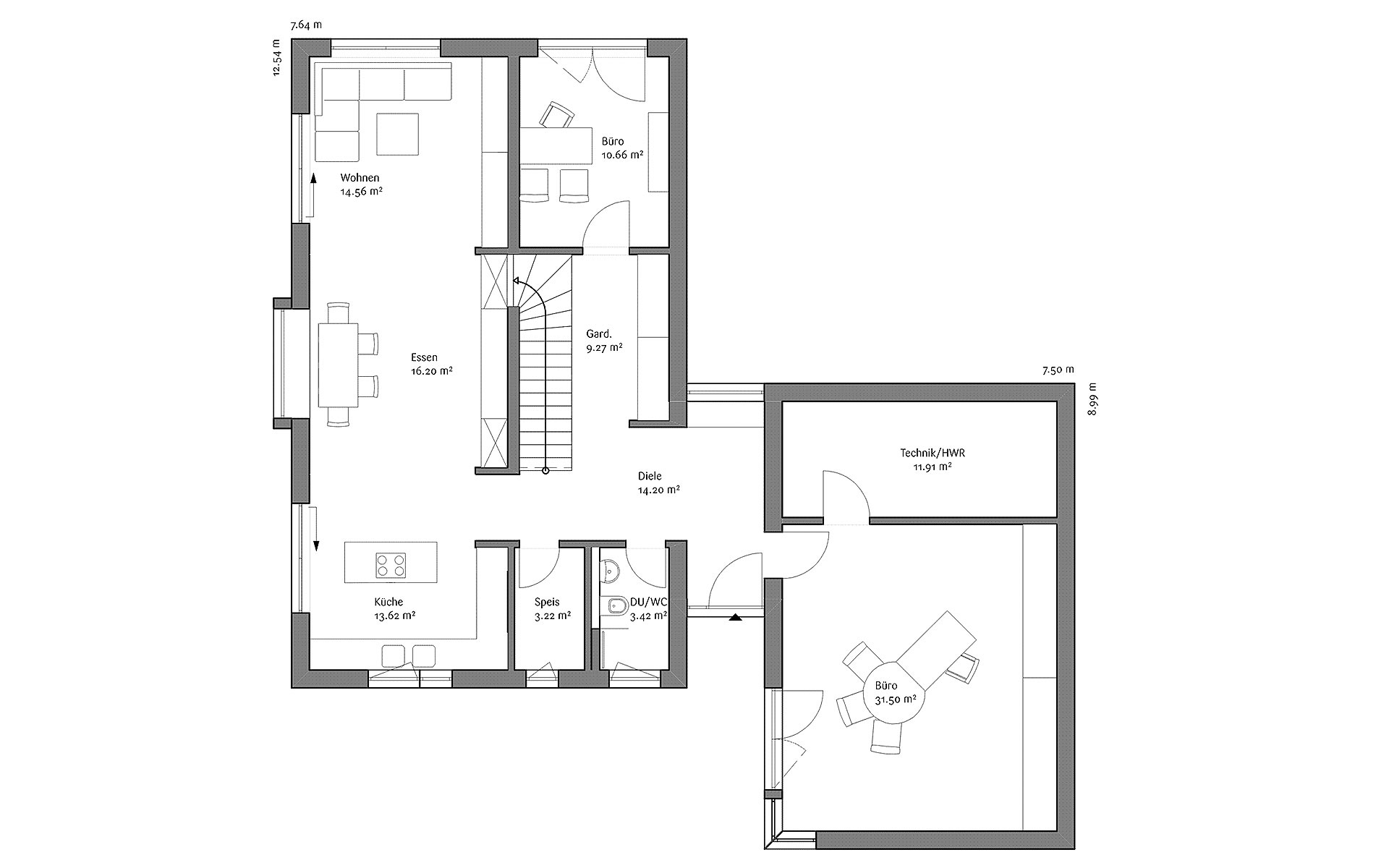 Erdgeschoss LaRocca (MH Heßdorf) von FischerHaus GmbH & Co. KG