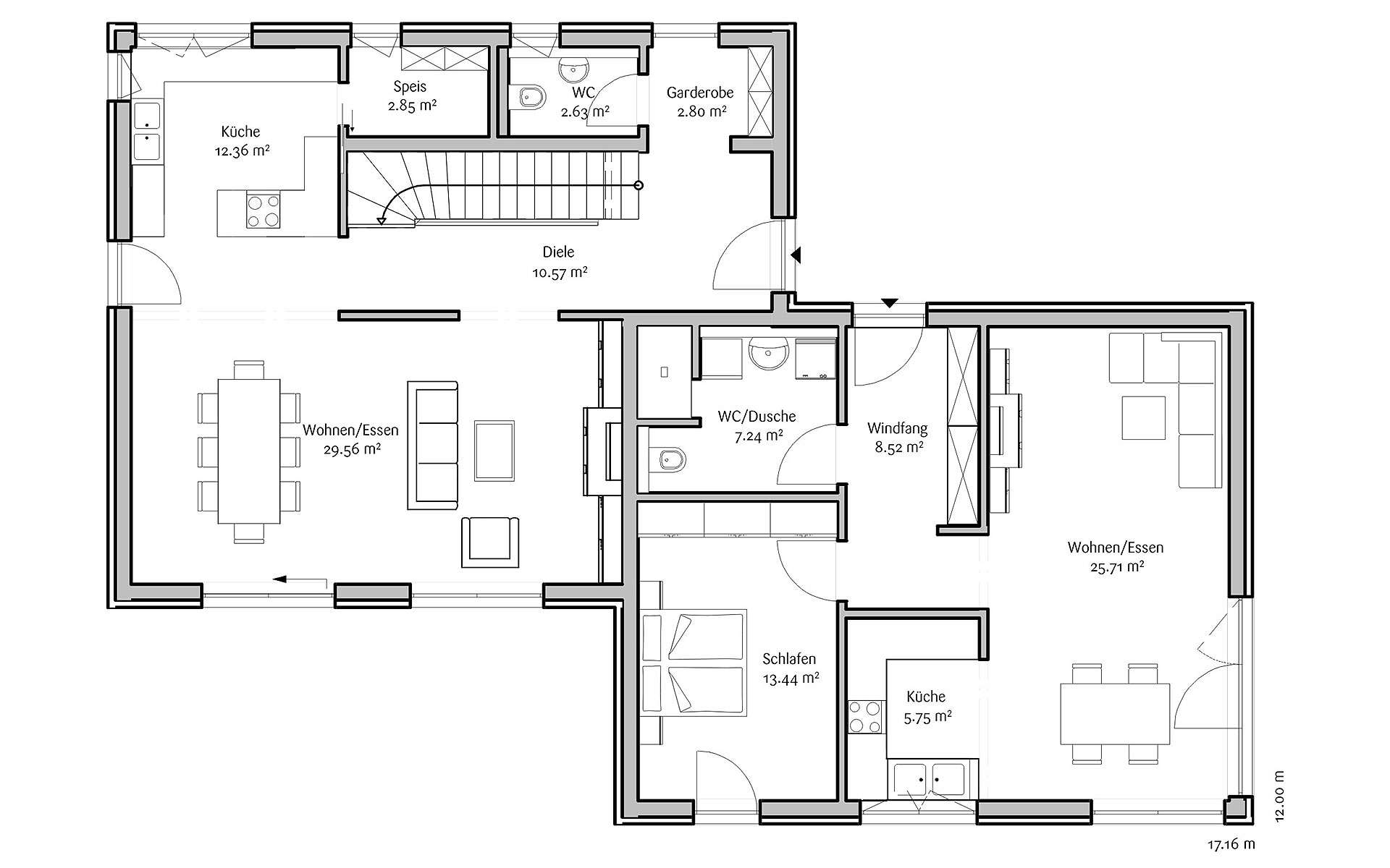 Erdgeschoss Modern 191 von FischerHaus GmbH & Co. KG