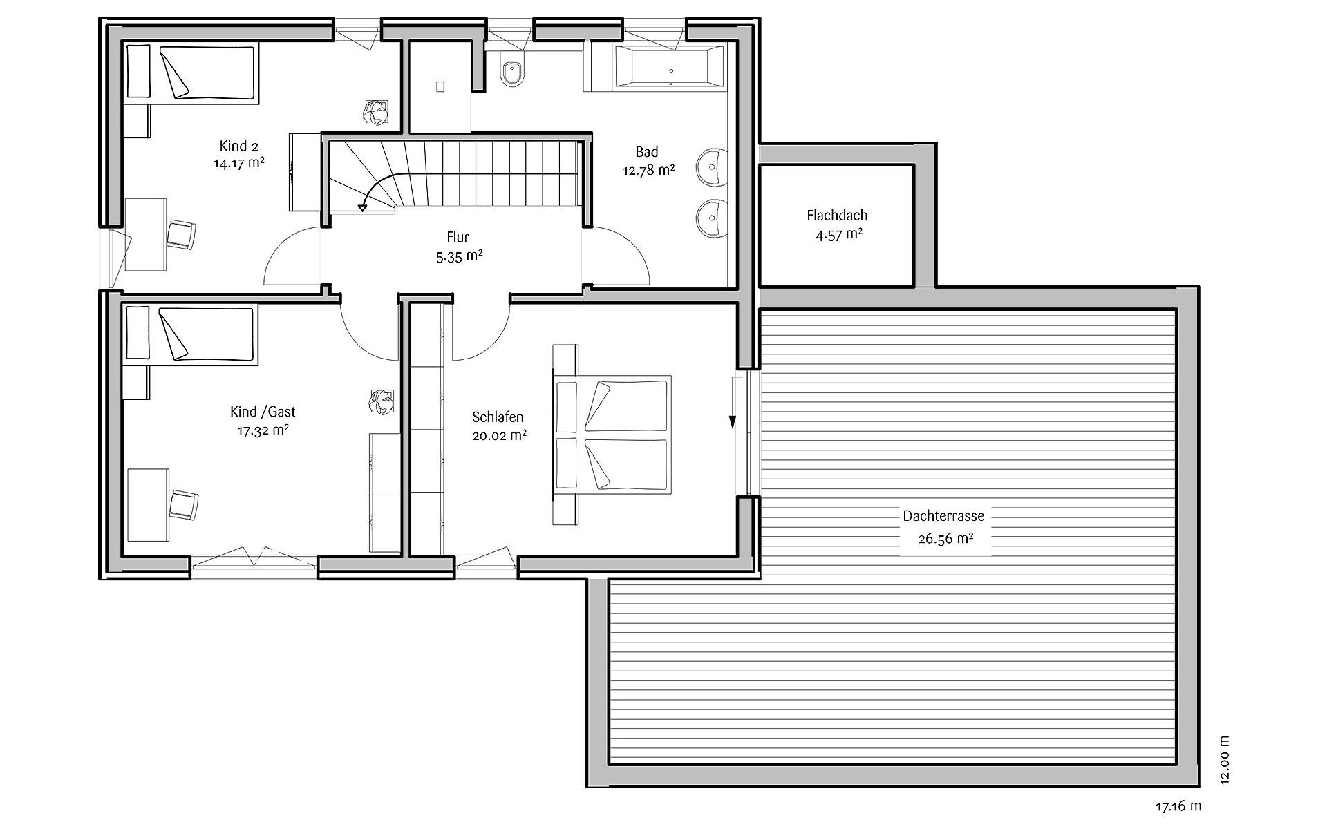 Dachgeschoss Modern 191 von FischerHaus GmbH & Co. KG