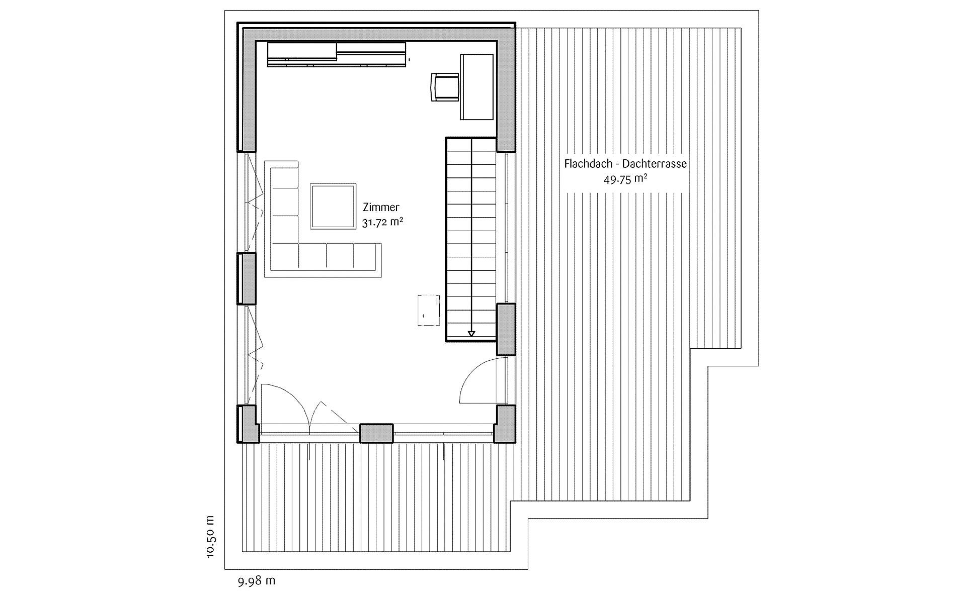 Dachgeschoss LaStructura Orchis von FischerHaus GmbH & Co. KG