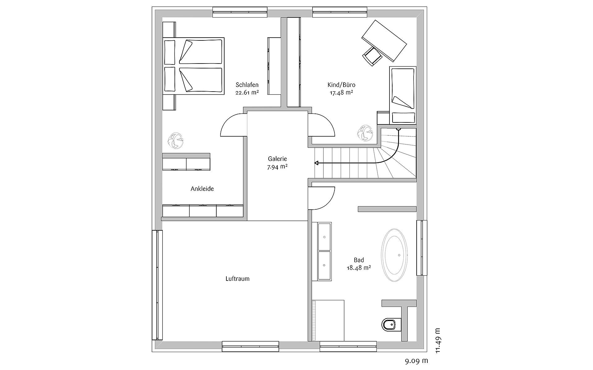 Dachgeschoss Klassisch 156 von FischerHaus GmbH & Co. KG