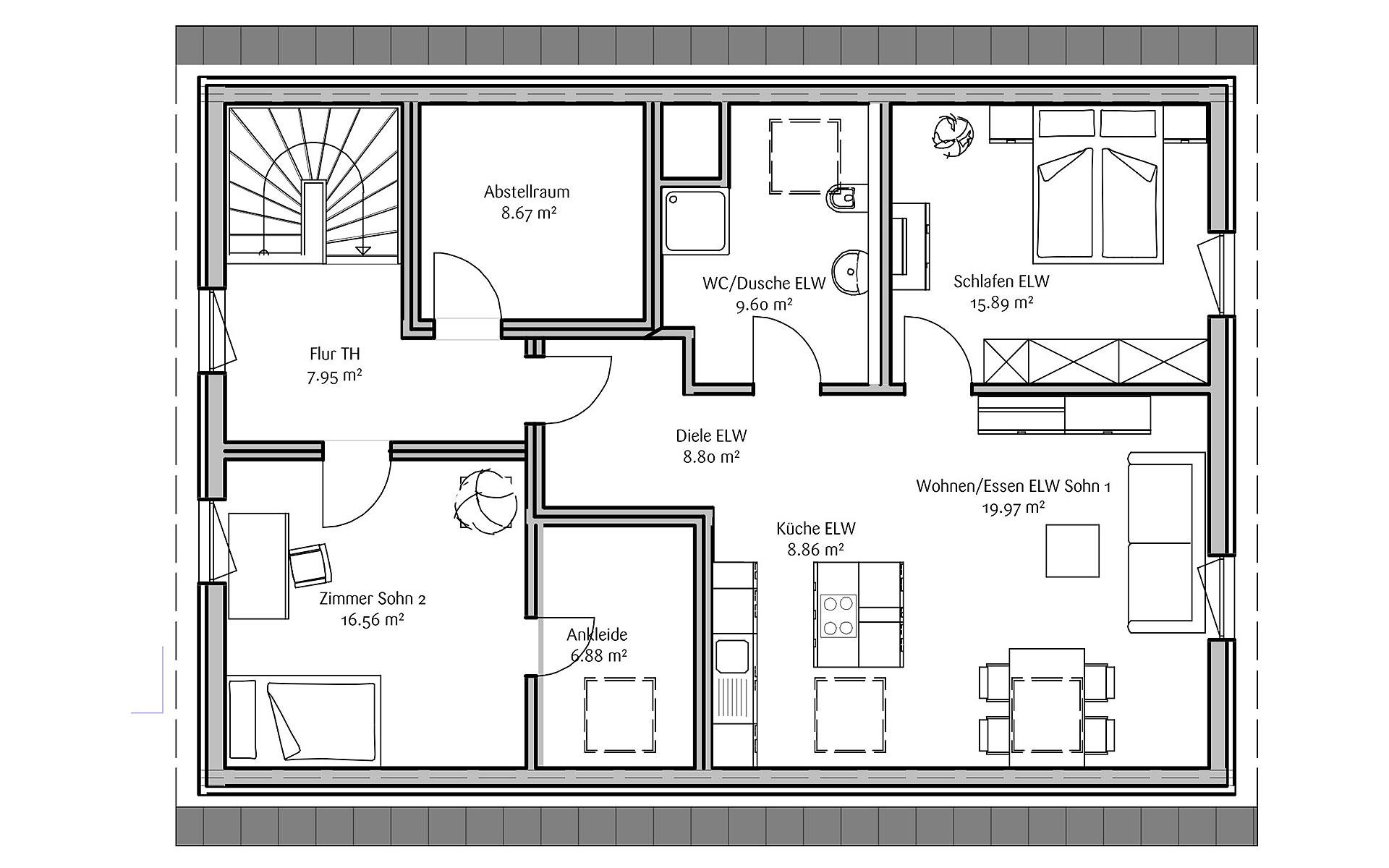 Dachgeschoss LaVita familia von FischerHaus GmbH & Co. KG