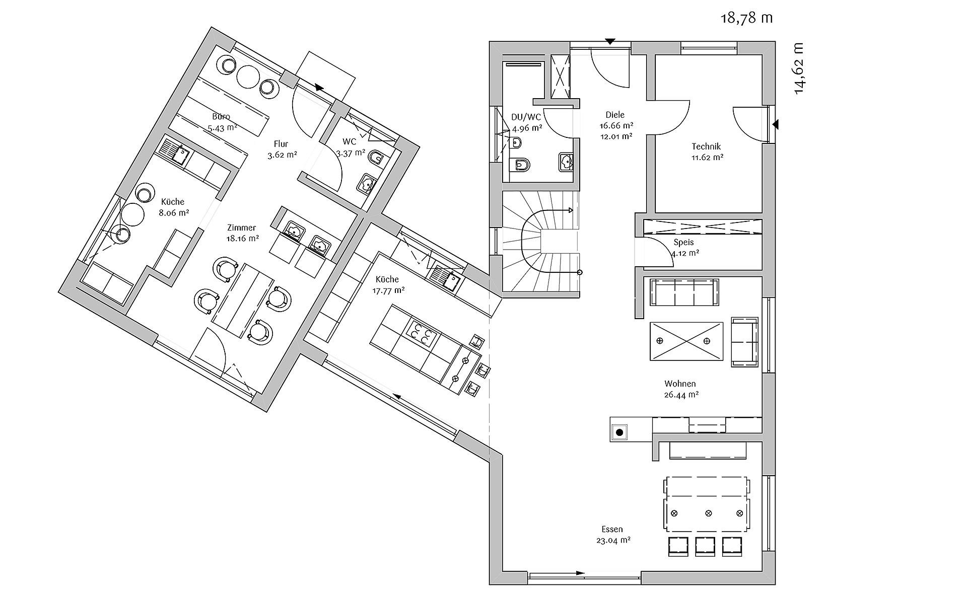 Erdgeschoss Moden 240 von FischerHaus GmbH & Co. KG