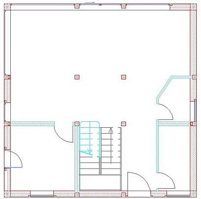 Erdgeschoss Frei-Raum-Haus 9x9-F von Frei-Raum-Haus - Dipl.-Ing. Schminder