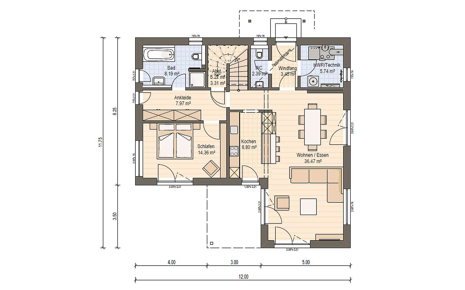 Erdgeschoss Haas BS 129 B von Haas Fertigbau GmbH