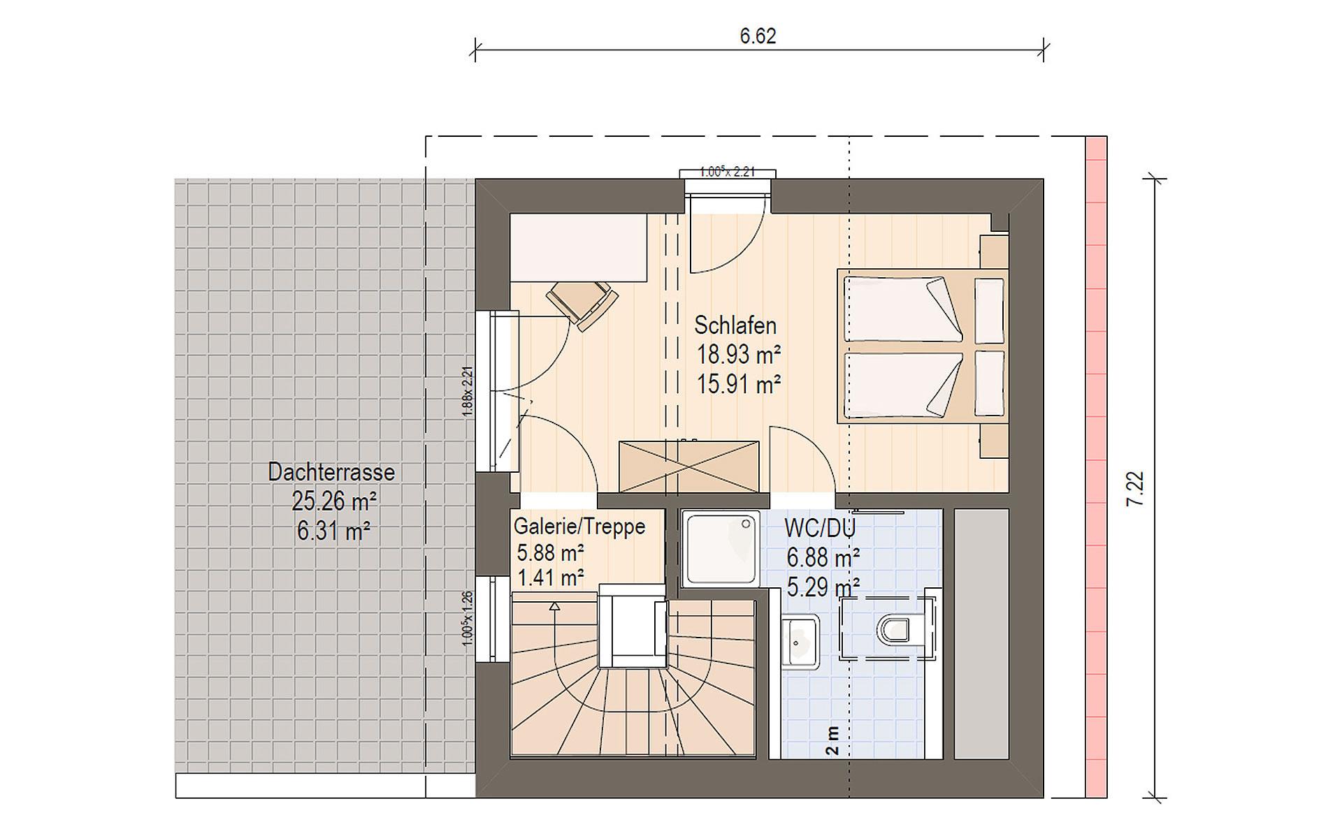 Dachgeschoss Haas D 112 A von Haas Fertigbau GmbH