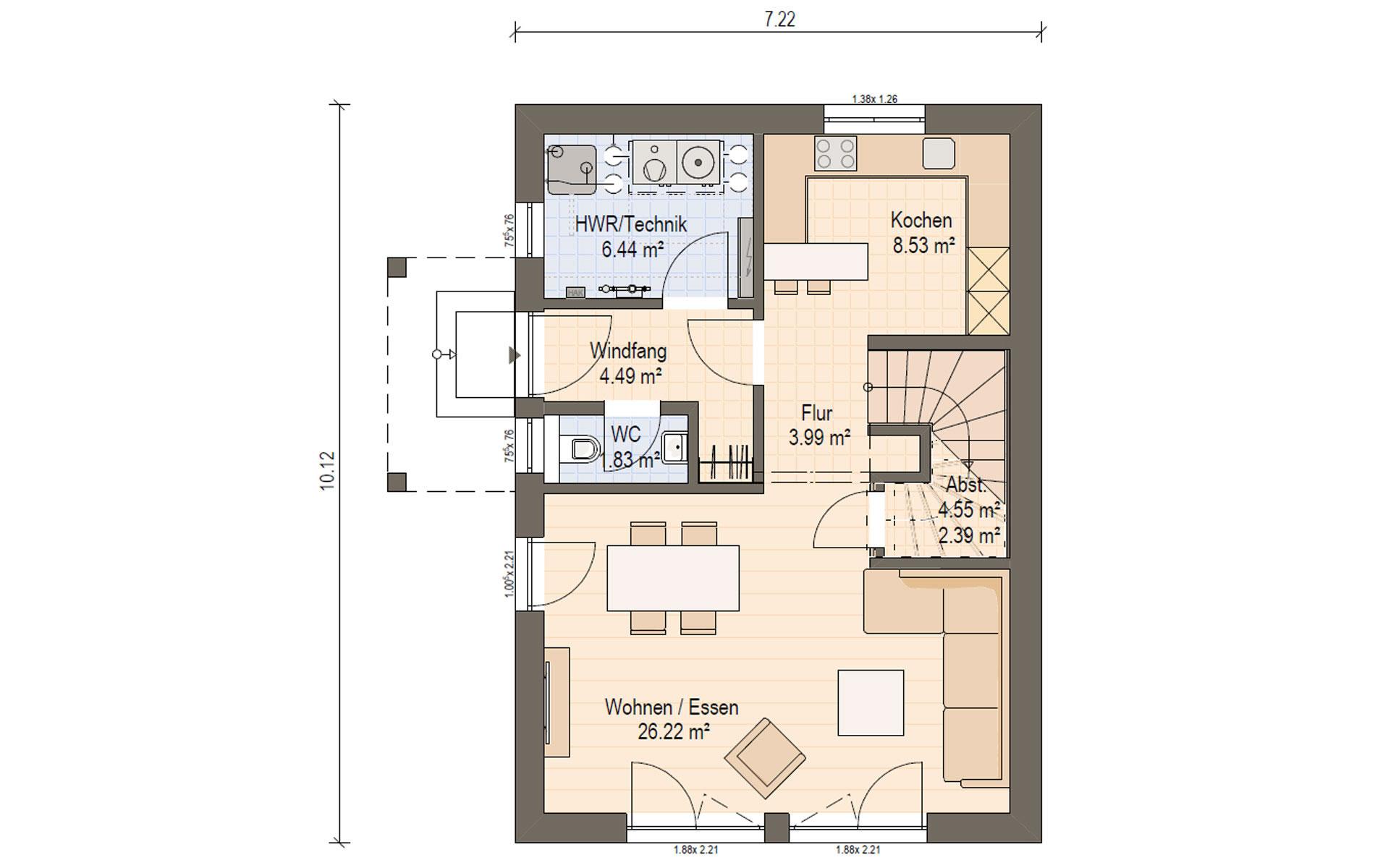 Erdgeschoss Haas D 112 B von Haas Fertigbau GmbH