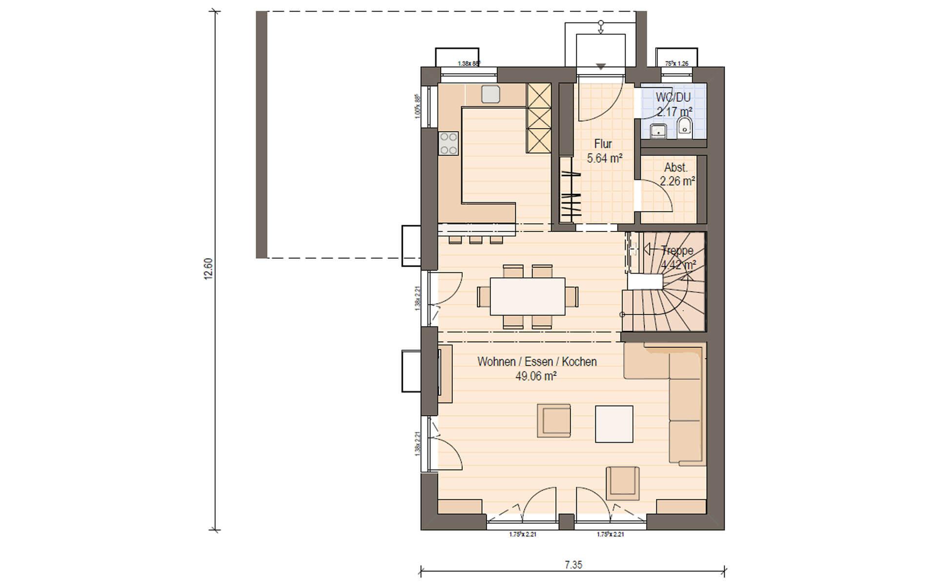 Erdgeschoss Haas D 128 B von Haas Fertigbau GmbH