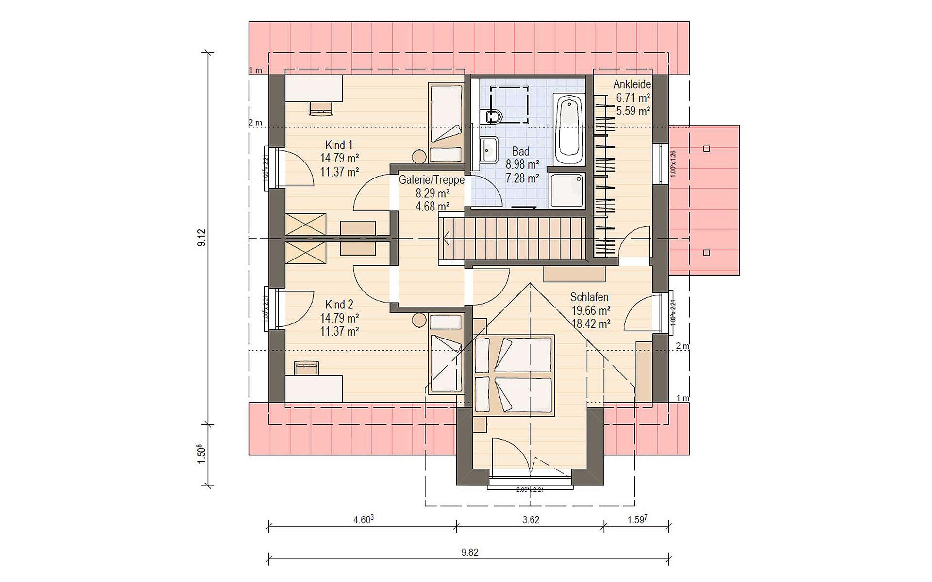 Dachgeschoss Haas O 141 A von Haas Fertigbau GmbH