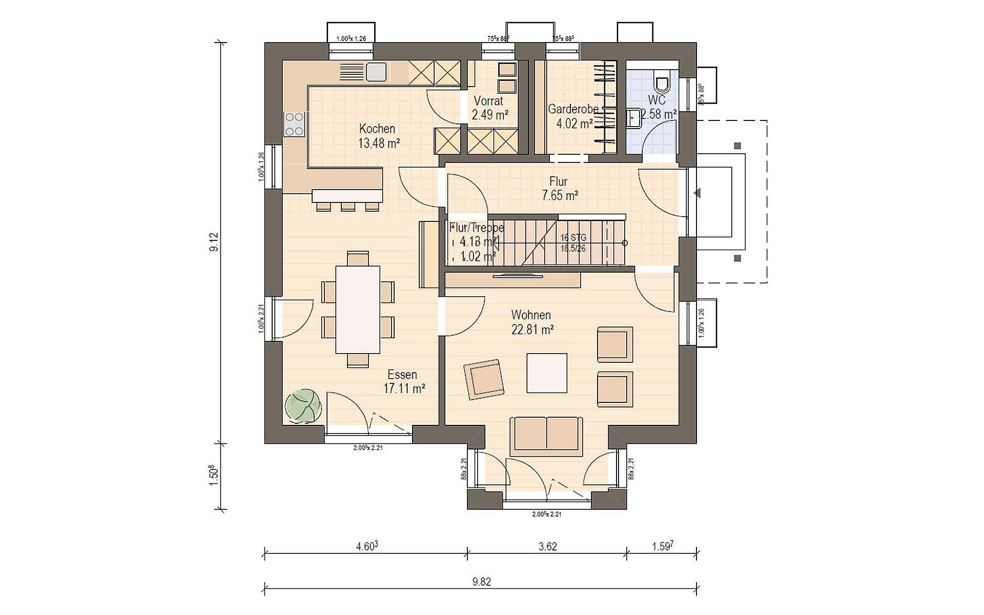Erdgeschoss Haas O 141 A von Haas Fertigbau GmbH