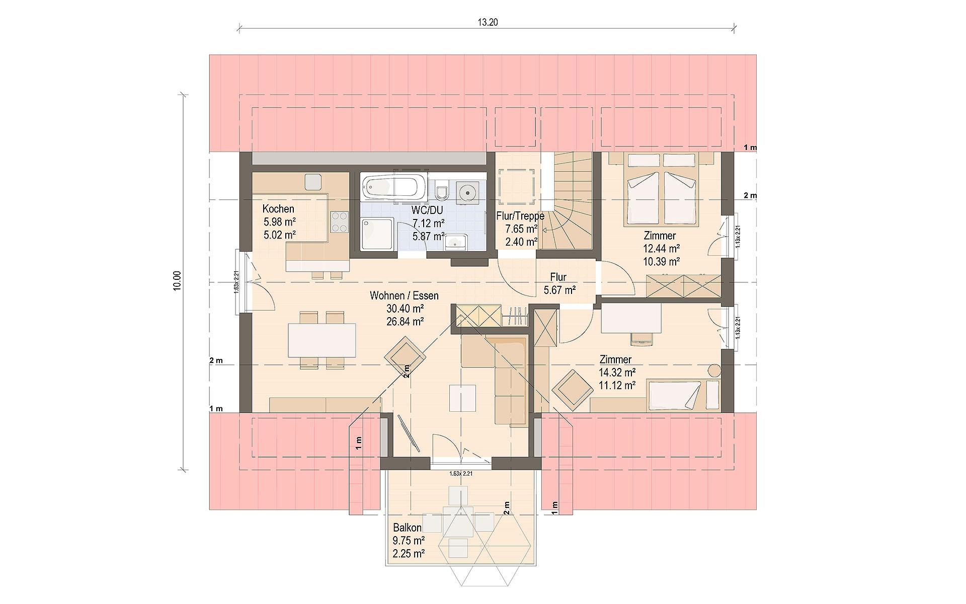 Dachgeschoss Haas WOB 3 B von Haas Fertigbau GmbH
