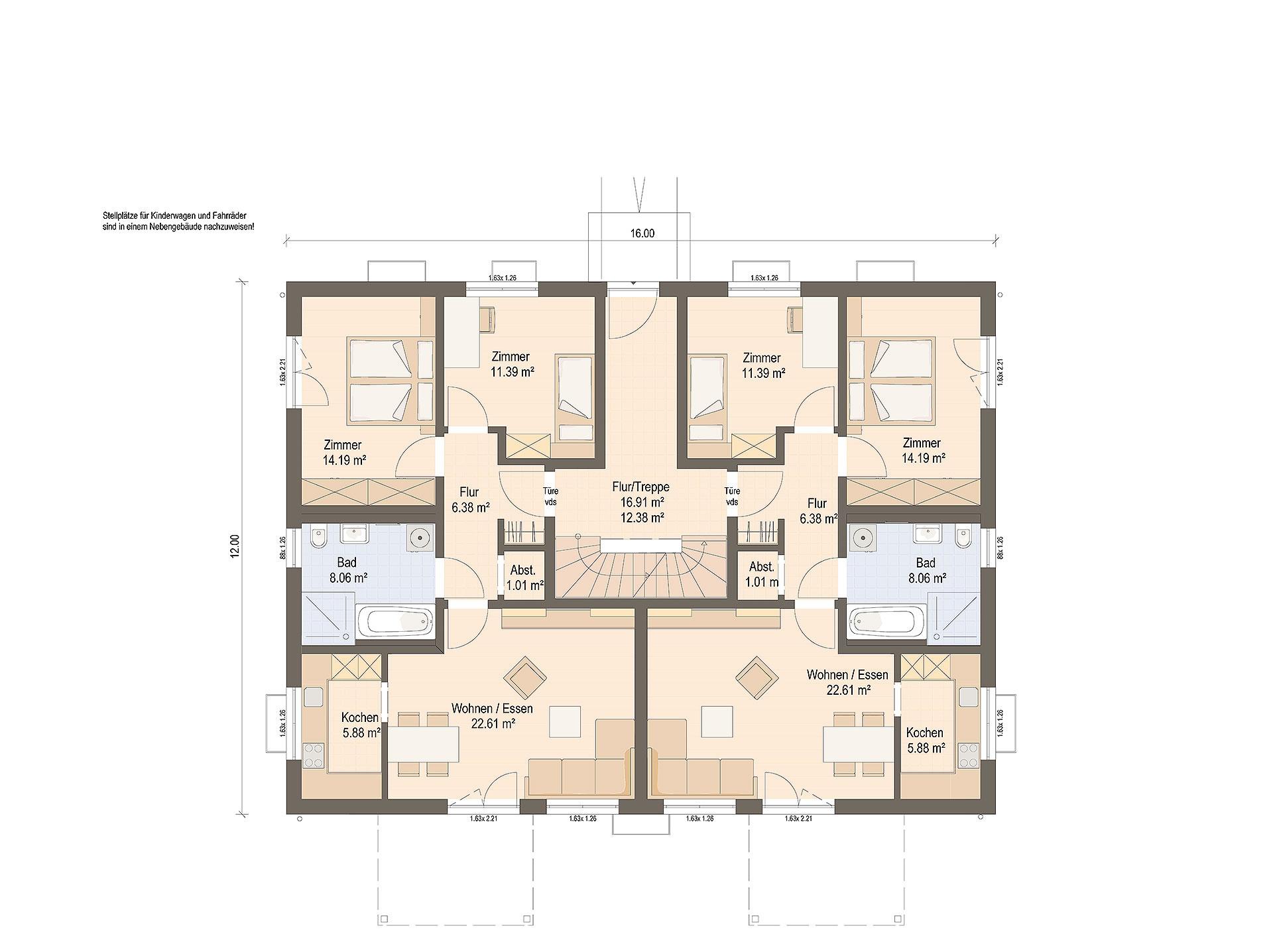 Erdgeschoss Haas WOB 6 A von Haas Fertigbau GmbH