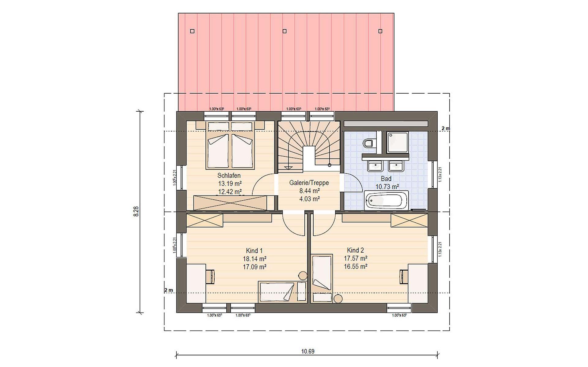 Obergeschoss Haas MH Falkenberg 139 von Haas Fertigbau GmbH