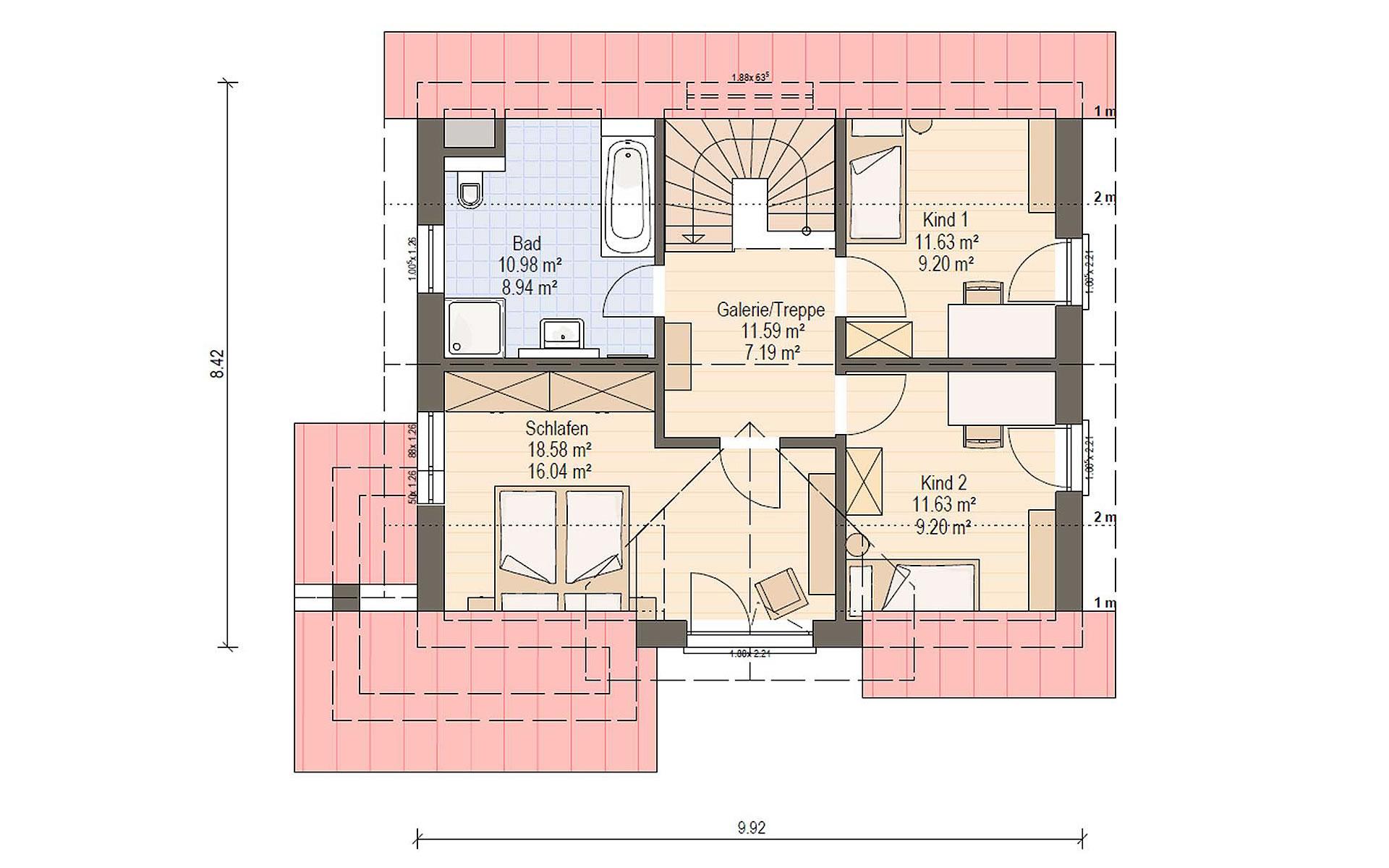 Dachgeschoss Haas S 130 A von Haas Fertigbau GmbH
