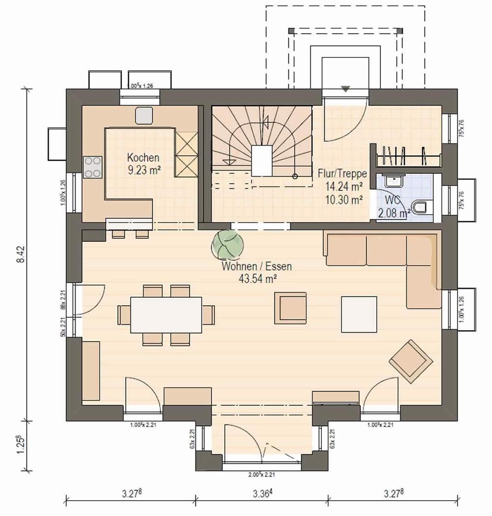 Erdgeschoss Haas S 130 B von Haas Fertigbau GmbH