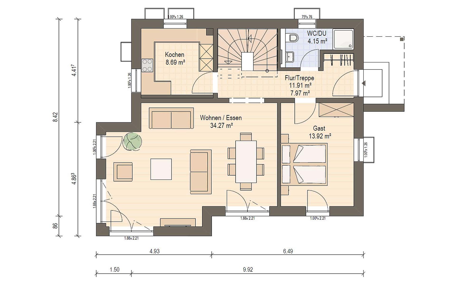 Erdgeschoss Haas S 130 D von Haas Fertigbau GmbH