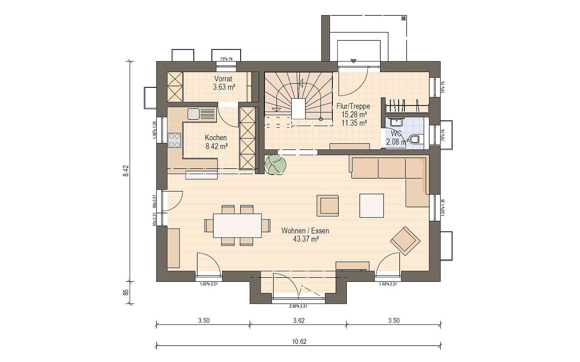 Erdgeschoss Haas S 140 A von Haas Fertigbau GmbH
