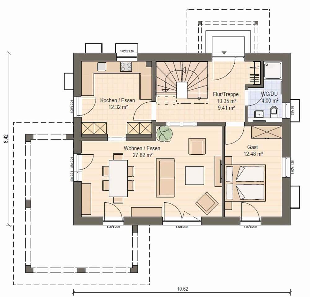 Erdgeschoss Haas S 140 B von Haas Fertigbau GmbH