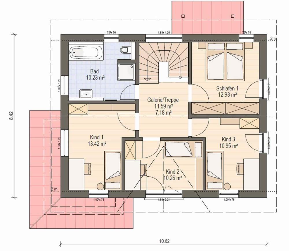 Obergeschoss Haas S 140 C von Haas Fertigbau GmbH