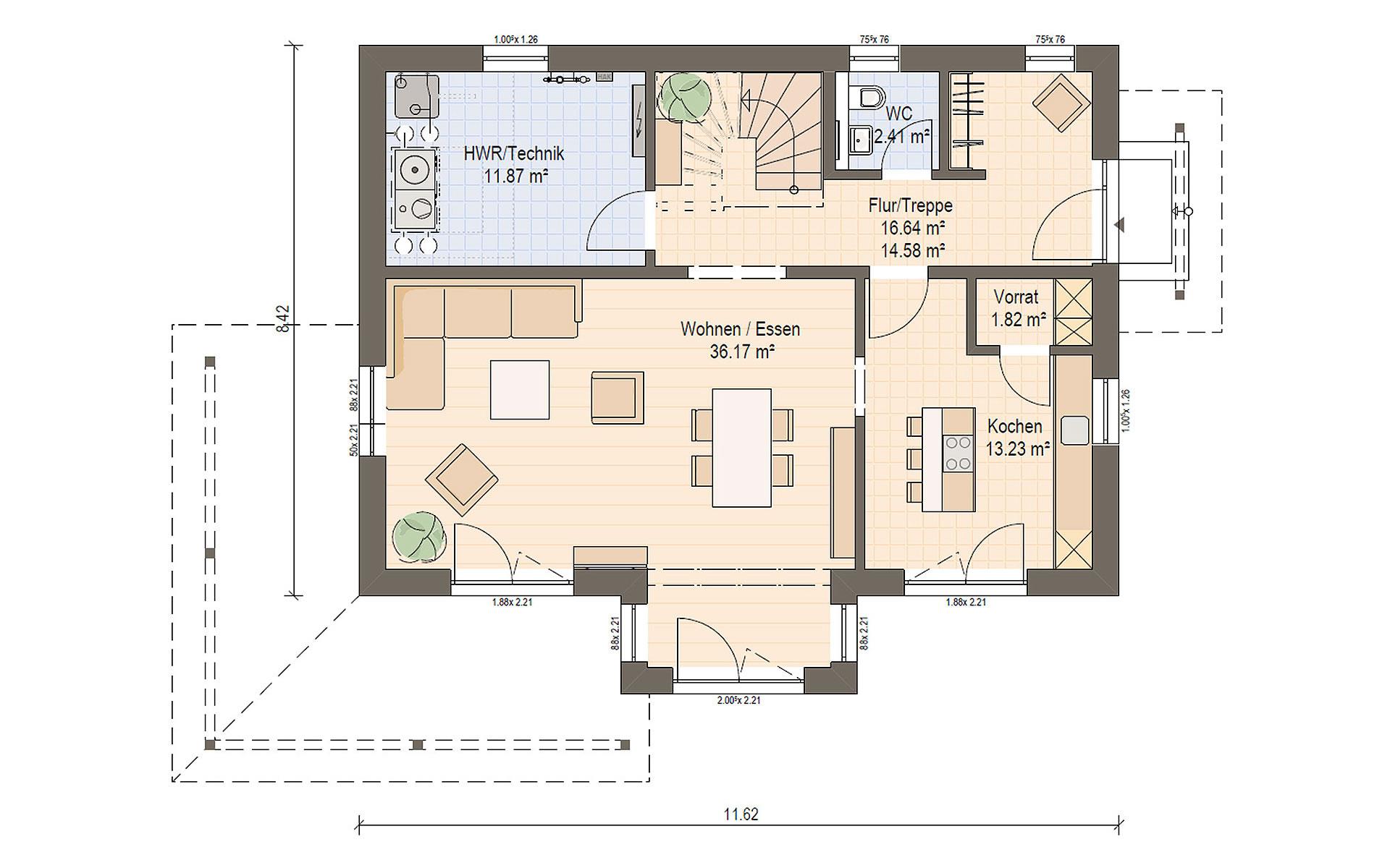 Erdgeschoss Haas S 154 C von Haas Fertigbau GmbH