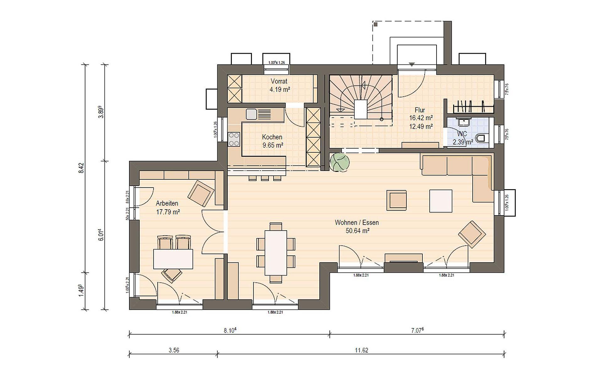 Erdgeschoss Haas S 154 D von Haas Fertigbau GmbH
