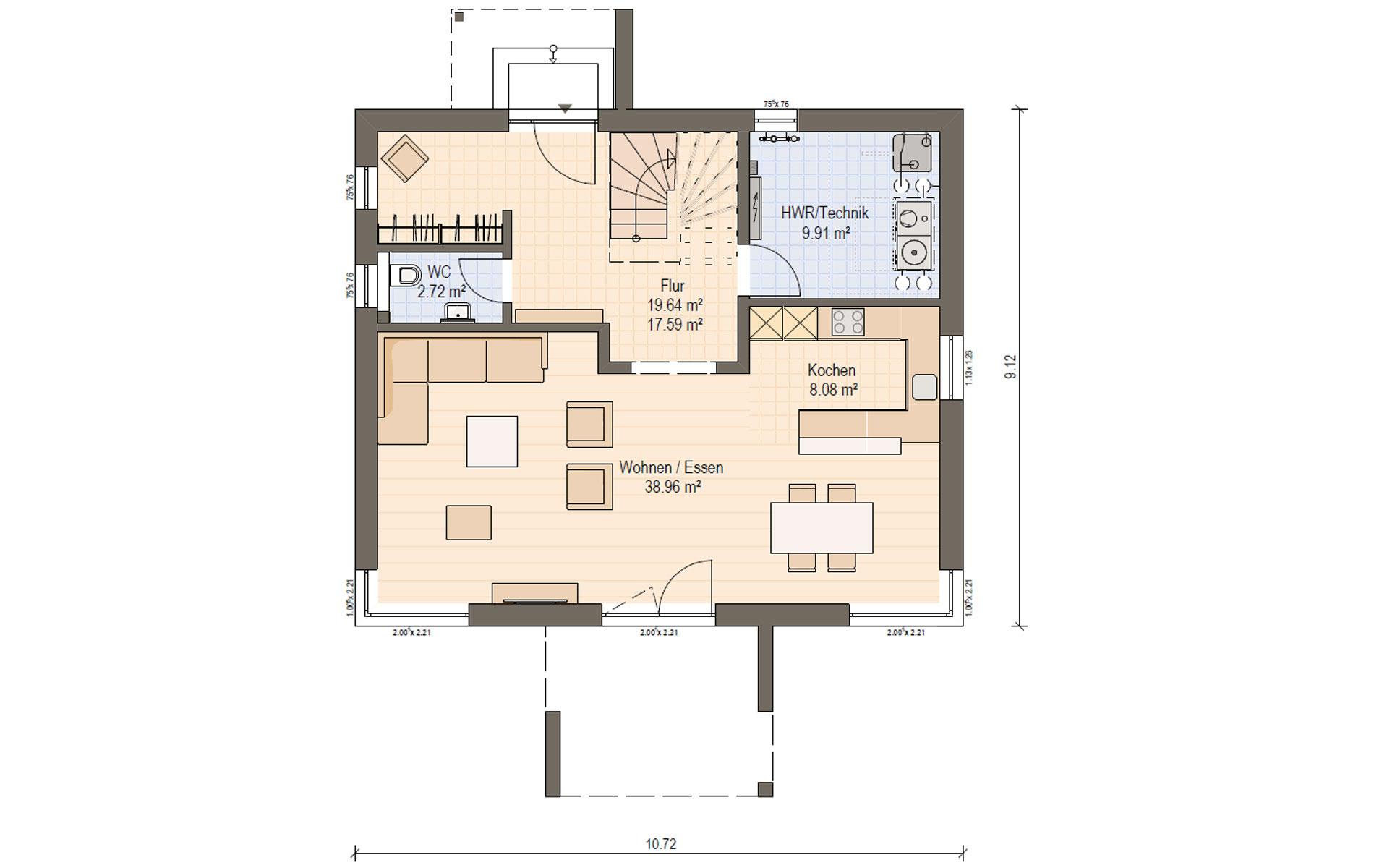 Erdgeschoss Haas S 155 A von Haas Fertigbau GmbH