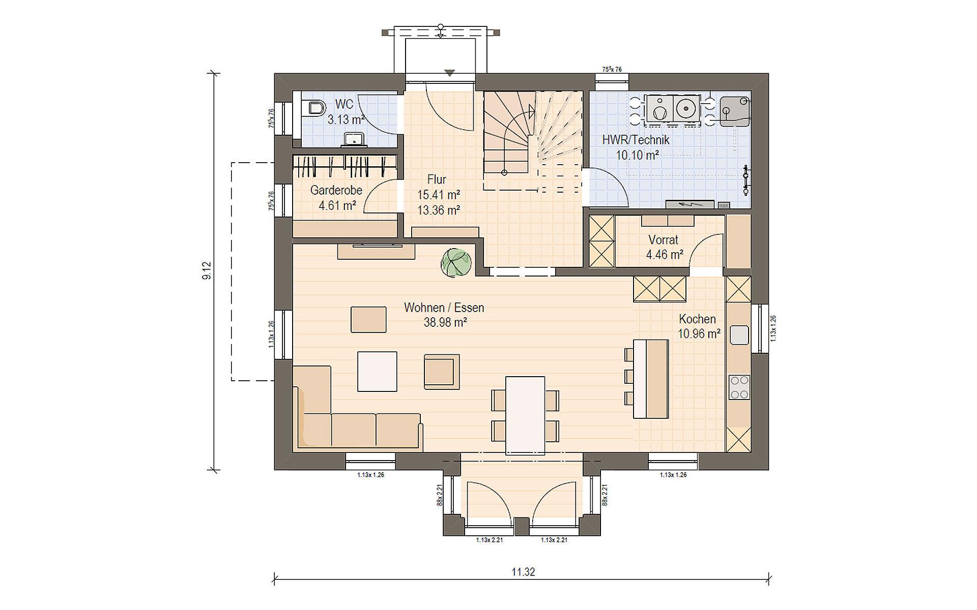 Erdgeschoss Haas S 165 A  von Haas Fertigbau GmbH
