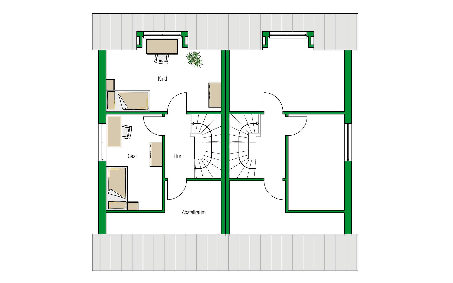 Dachgeschoss Bristol von HELMA Eigenheimbau AG