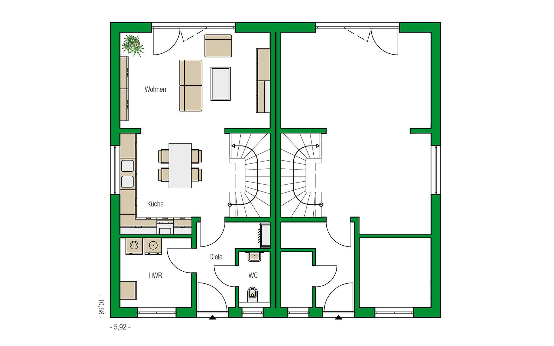 Erdgeschoss Bristol von HELMA Eigenheimbau AG