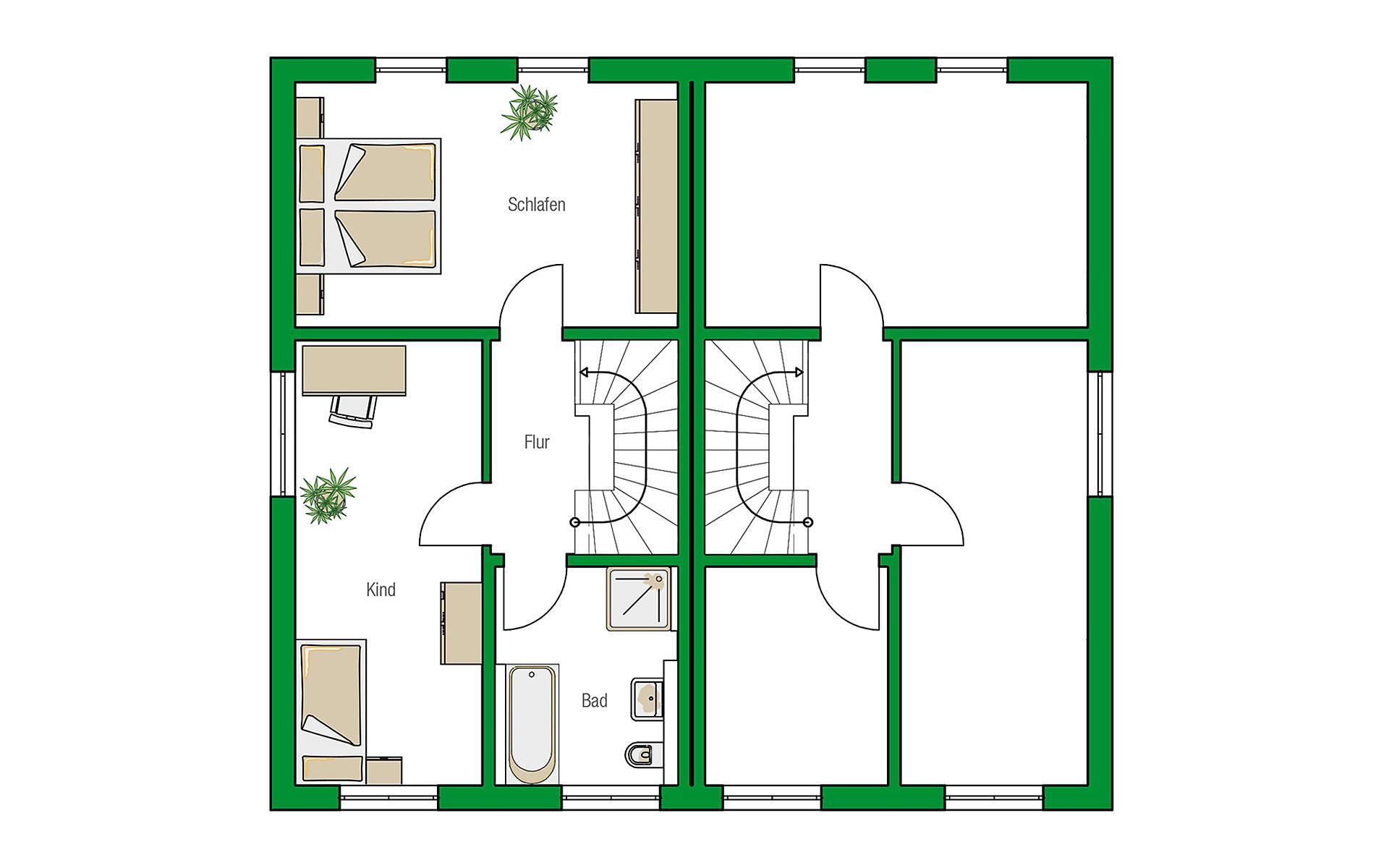 Obergeschoss Bristol von HELMA Eigenheimbau AG