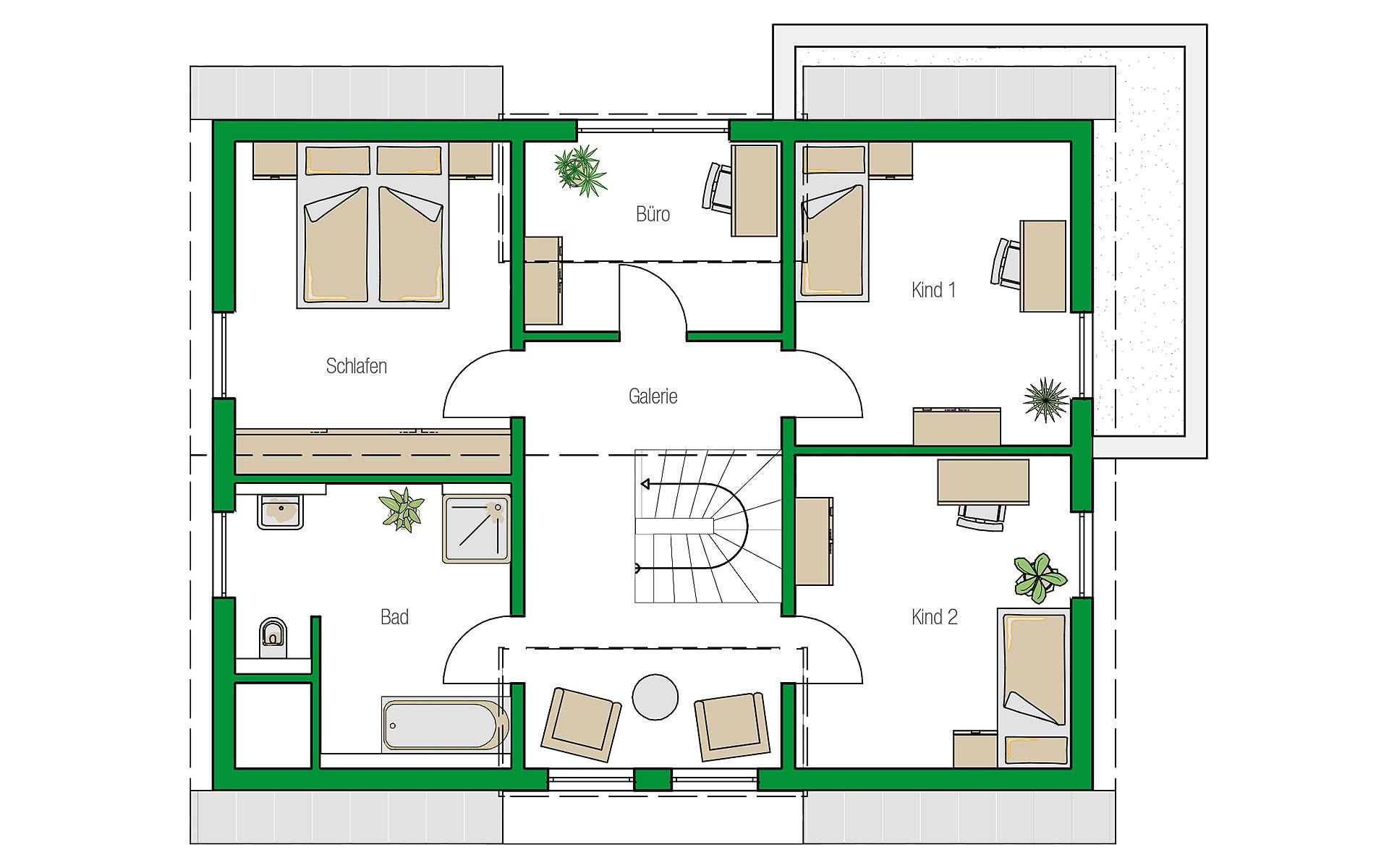 Dachgeschoss Colmar von HELMA Eigenheimbau AG