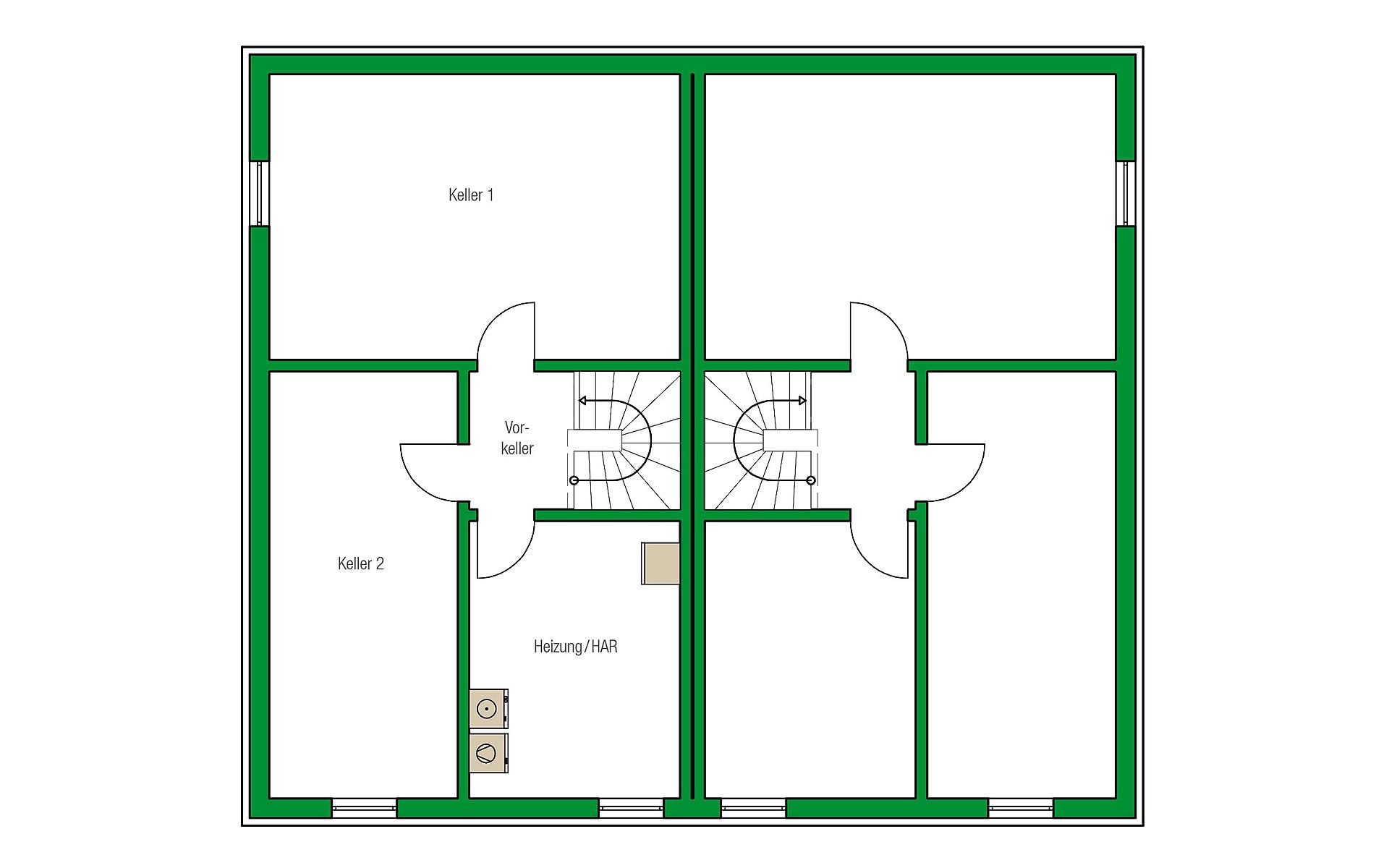 Keller Dublin-Variante von HELMA Eigenheimbau AG
